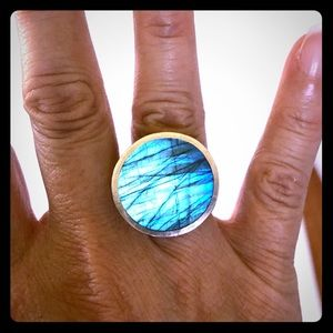 Labradorite Sterling silver ring.